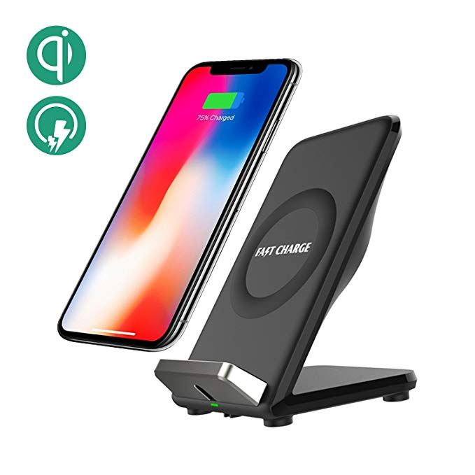 Fast Wireless Charger Charging Cell Phone Stand With Cooling Fan