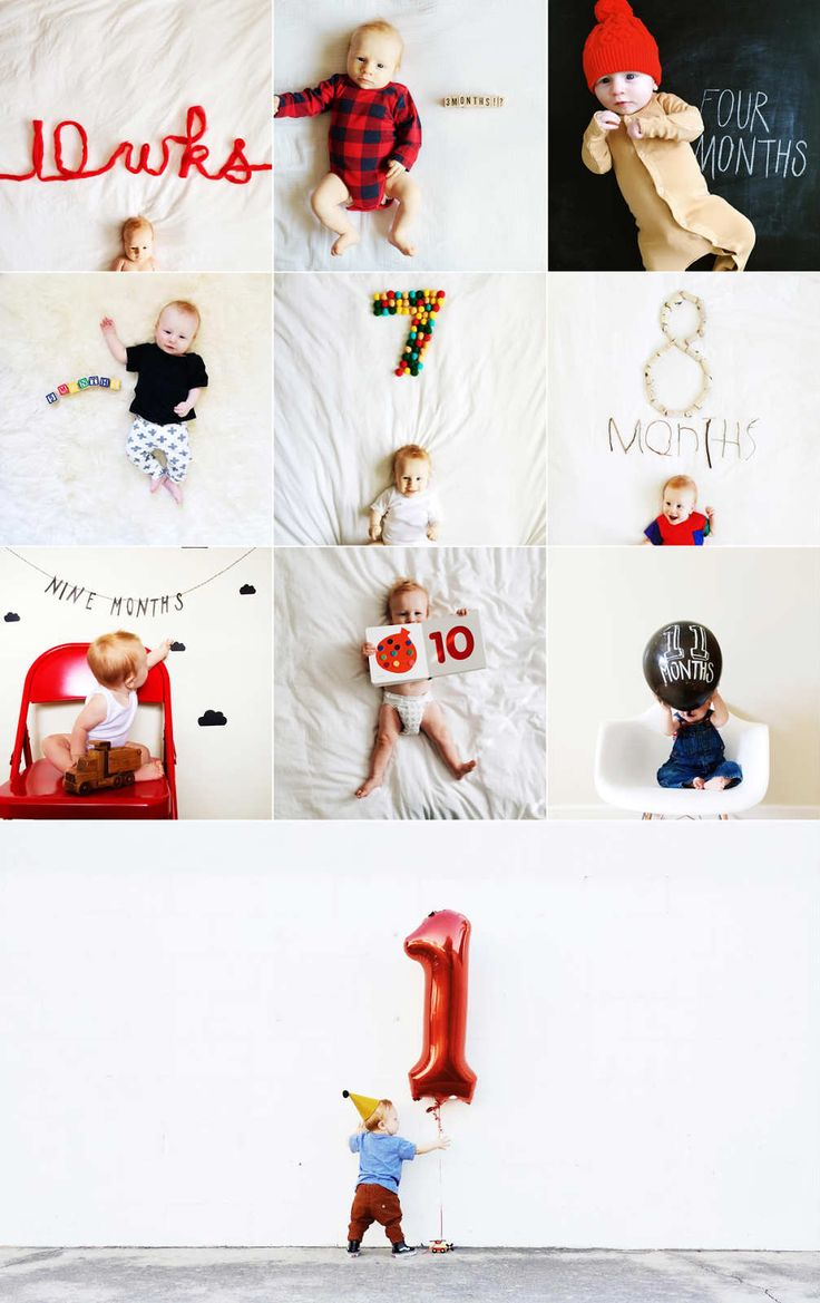 Super cute baby milestones photo collection | 10 Ways to Document your Baby's 1st Year - Tinyme Blog