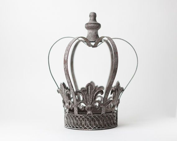 Crown Centerpiece, Metal Crown, Large wedding cake topper