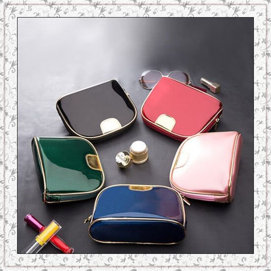 Metal plating zipper ,easy to wash cosmetic bag ,Portable Small Cosmetic Bags For Cosmetics