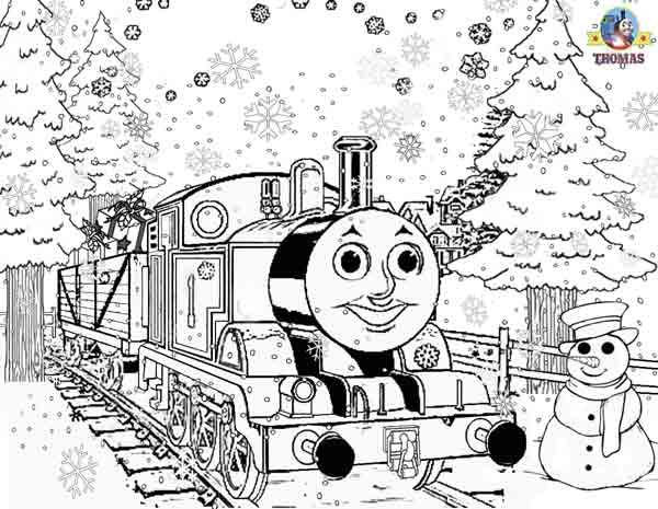 Fashion For Thomas The Tank Engine Christmas Coloring Pages