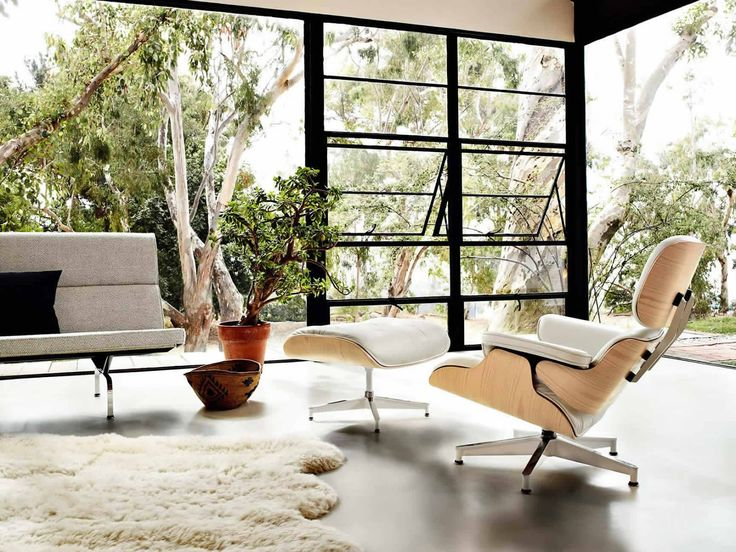 Eames Chair And Ottoman, Designed By Charles And Ray Eames Designers For Herman  Miller