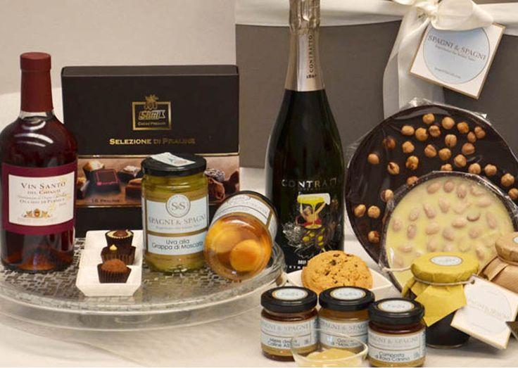 Excellent Italian Flavors Gift Basket https://goo.gl/47Yu7E #sweet #jams #chocolate #honey #sparklingwine #italianfood