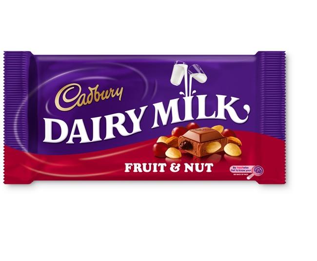 Nothing like a Cadbury fruit and nut.