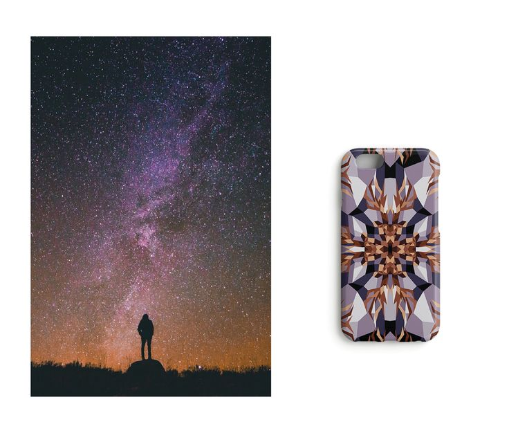 When the sky dances //Under the Northern Lights iPhone case designed by Katariina Karjalainen.