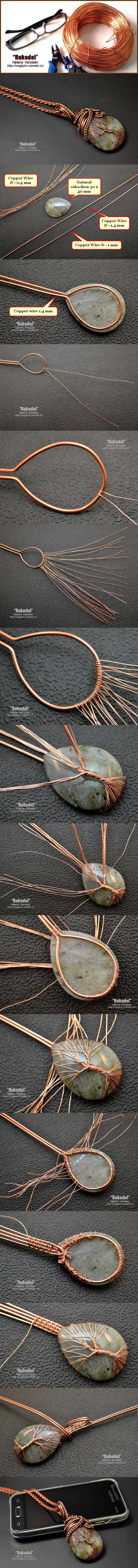 DIY JEWELRY - Simple Wire Wrap Tree Tutorial