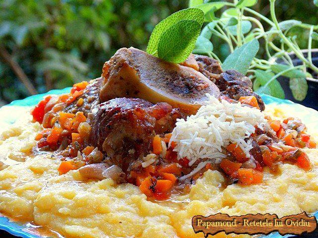 Osso Buco cu hrean si mamaliga cu cartofi | Papamond #ossobuco, #beefrecipes, #polenta, #Italyrecipes