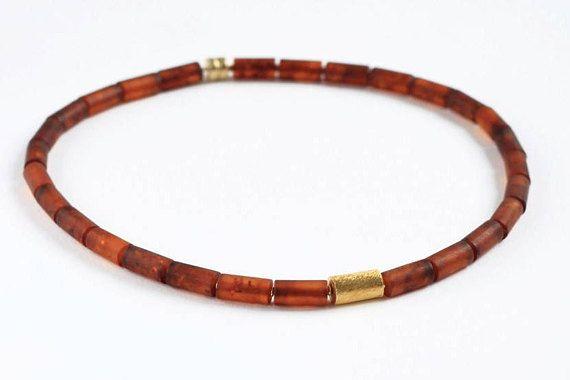 Cogniac Baltic Amber Necklace Elegant Genuine Amber Jewelry
