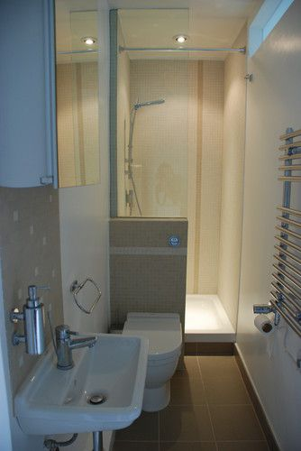 1000 ideas about small narrow bathroom on pinterest for Tiny ensuite designs
