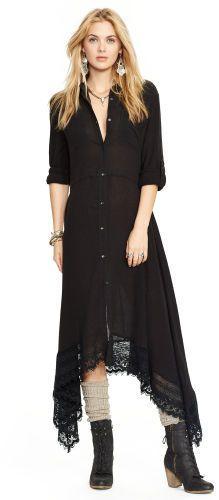Ralph Lauren Denim & Supply Cotton Gauze Button-Down Dress