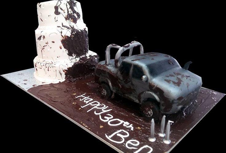 car in the mud cake