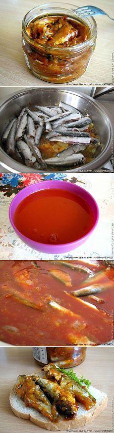Домашняя килька в томате.