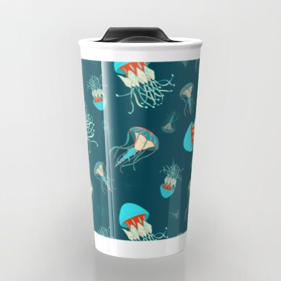 Flow jellyfishes by Katalena, $24. https://society6.com/product/flow-jellyfishes-xyu_travel-mug?curator=bestreeartdesigns