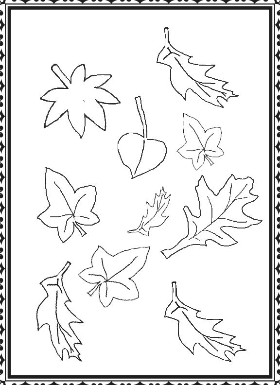 kids under pine trees coloring pages | 17 Best images about Coloring - Trees & Leaves on ...
