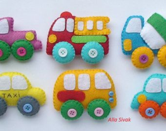 TECHICS voelde magneten voor de kids, Cars speelgoed, Kids auto, baby boy baby speelgoedauto, vilt auto, jongen kinderen auto speelgoed, baby jongen auto, voelde magneet voertuigen