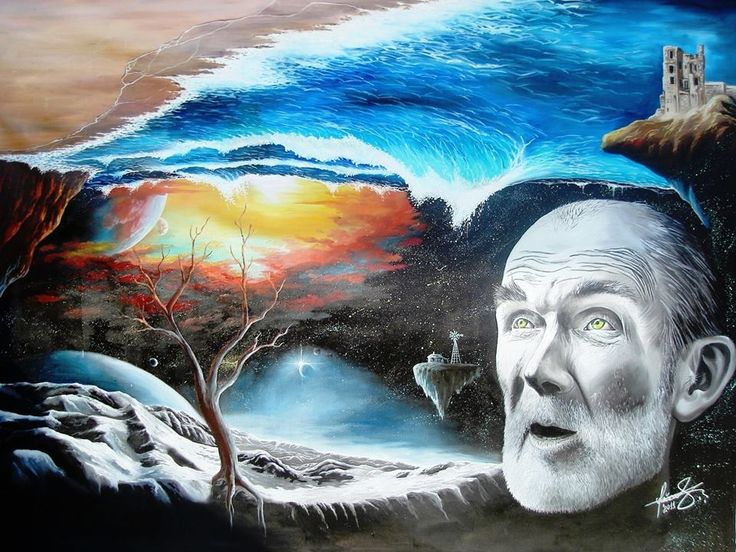 """At the end of the world"" - Oil on canvas.   Mihai Adrian Raceanu, Painter from Romania #art #painter #painting #surrealism"