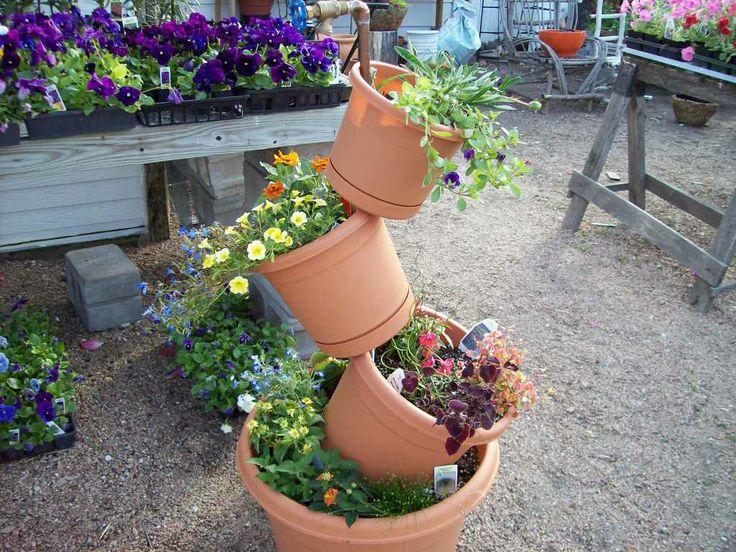 Diy Tiered Backyard : diy tiered medicinal herb garden planter  garden  Pinterest