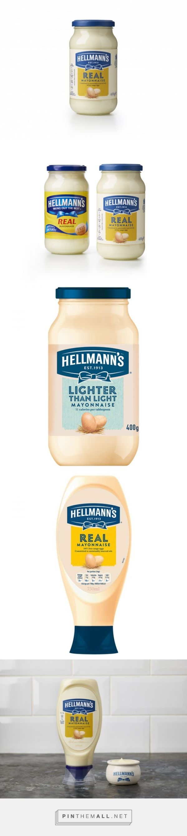 Hellmann's rebrand by Design Bridge. Source: Design Week. Pin curated by #SFields99 #packaging #design #inspiration #ideas #rebrand #hellmanns #mayonnaise