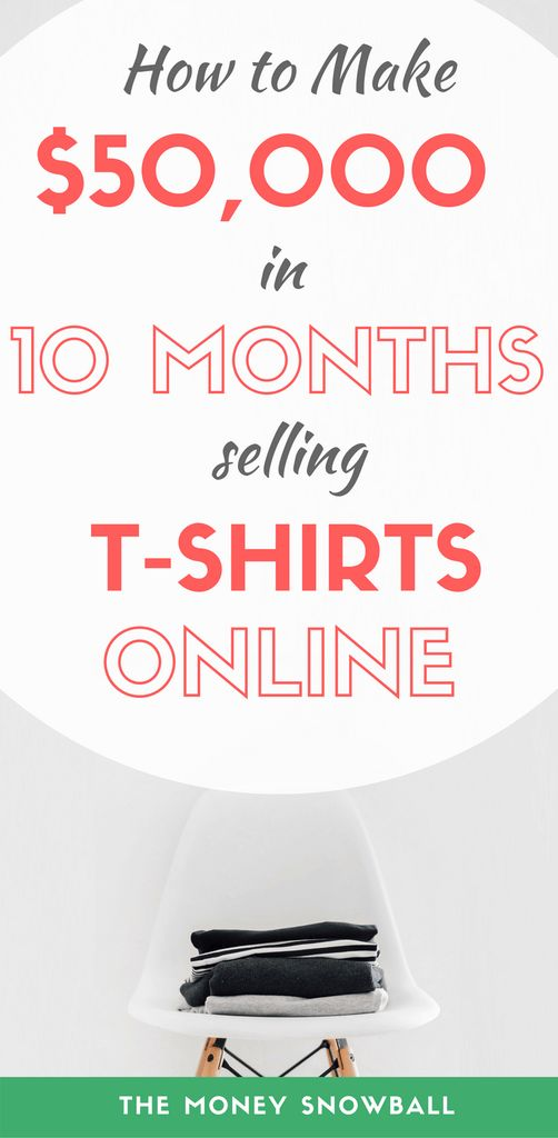 Find out how you can sell t-shirts online to make passive income. All for free with no inventory, no e-commerce store, and no money spent on marketing. #Finance