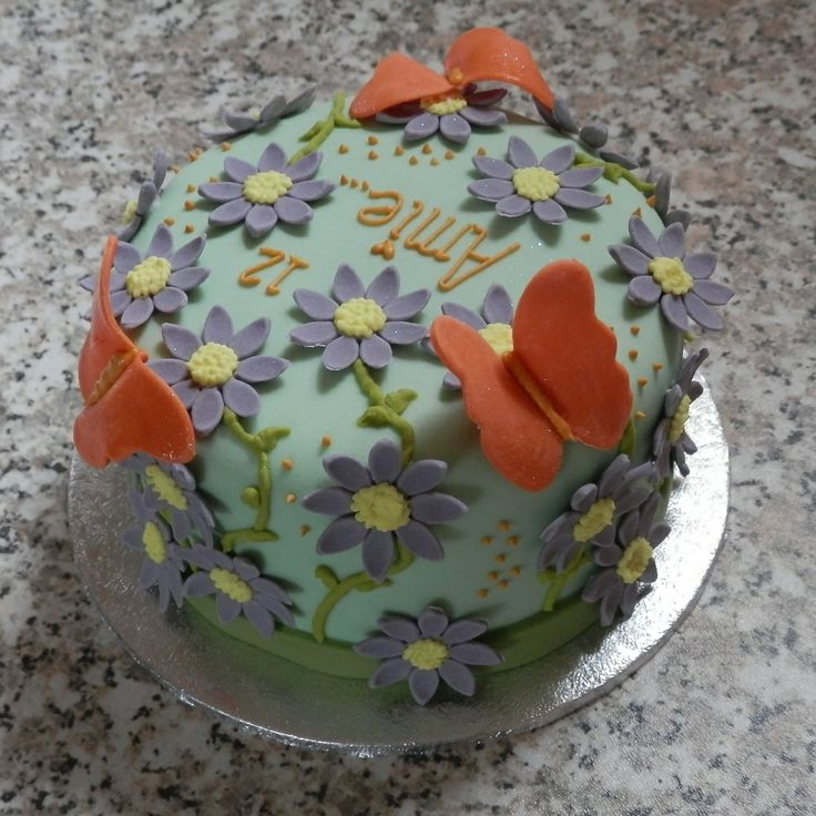 "Butterfly Cake Mini 4""......................................... Orders taken here at Crumbs of Joy OR Simple Email Us through our website ......... CHECK IT OUT https://www.facebook.com/BecclesCrumbsofJoy"