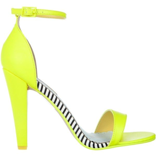 Miss KG Francene Sandals in Neon Yellow (150 BRL) ❤ liked on Polyvore featuring shoes, sandals, lime, women, miss kg shoes, lime green shoes, lime sandals, miss kg and neon yellow shoes