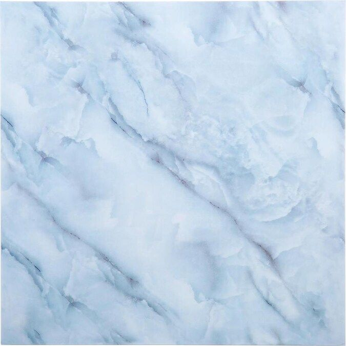 Truu Design Truu Design Self Adhesive Peel And Stick Marble Wall Tiles 11 8 In X 11 8 In White Iv 12 Lowes Com In 2021 Blue Aesthetic Pastel Baby Blue Aesthetic Blue Wallpaper Iphone