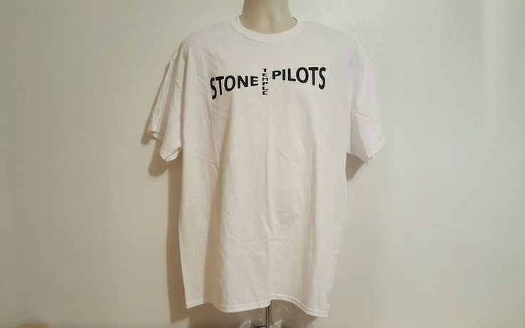 Stone Temple Pilots Rock Band Mens White XL TShirt #Gildan #BasicTee