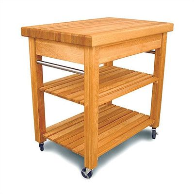 catskill craftsmen inc french country kitchen cart with butcher block top - Butcher Blocks