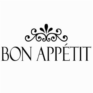 For the Kitchen/Breakfast Nook - Bon Appetit vinyl lettering