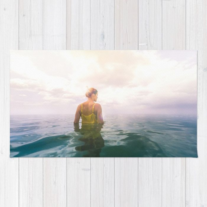 Buy Eutierria Rug by Nicklas Gustafsson. Worldwide shipping available at Society6.com. Just one of millions of high quality products available. #eutierria #woman #girl #nature #landscape #sea #ocean #photography #seascape #cloudscape #yellow #dress #rug #homedecor