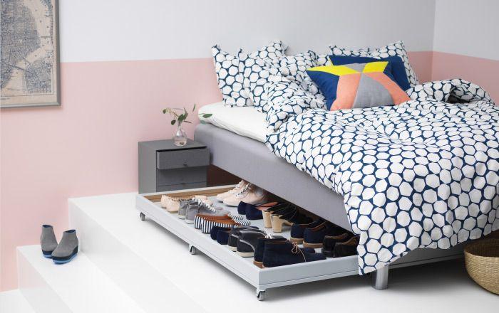 Soluzione per riporre le scarpe sotto al letto - IKEA