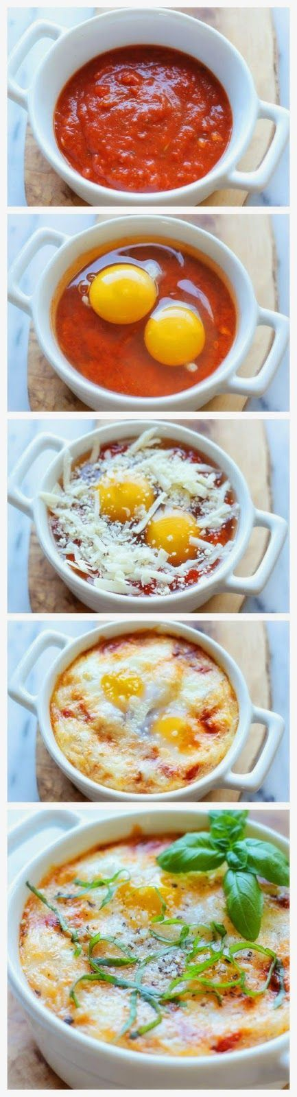 Italienische gebackene Eier