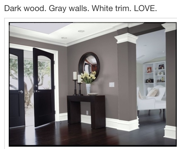 51 best images about interior wall color schemes on pinterest for Grey interior walls