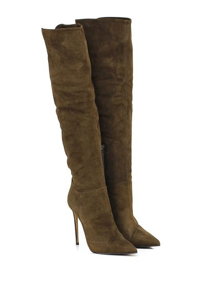 LE SILLA - Stivali - Donna - Stivale in pelle vintage con zip su lato internoe…