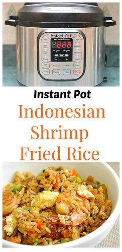 Instant Pot Indonesian Shrimp Fried Rice has perfectly balanced sweet and salty flavors...total comfort!