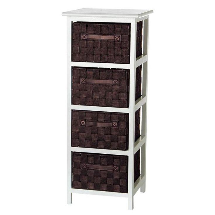 Cajonera 4 cajones chocolate madera 3050x3050x78cm 25460