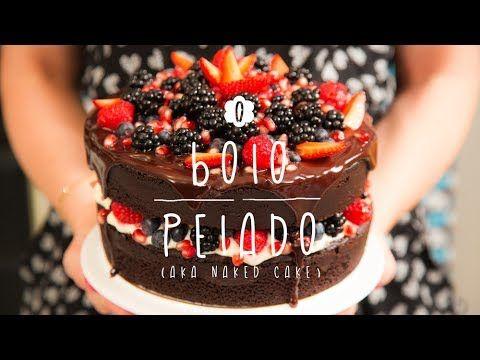 A Doce Cozinha #02 - Bolo Pelado de Chocolate (aka Naked Cake) - YouTube
