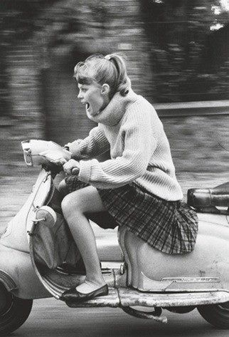 The look on her face is priceless.  That how I feel when I ride.