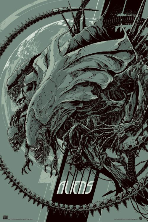 As ilustrações alternativas de pôsteres de filmes de Ken Taylor - Aliens - O Resgate