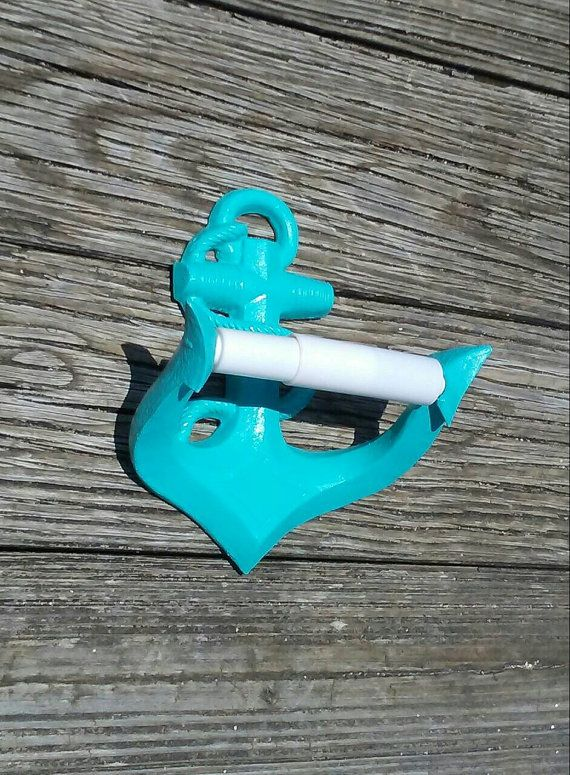 Looking to add to your nautical bathroom?  This anchor toilet paper holder is perfect for any nautical or beach themed bathroom.  Made from resin. Two key holes on back for easy hang up.  If you would like this in any color besides white please add a note at checkout and I will be happy to make this in your custom color.