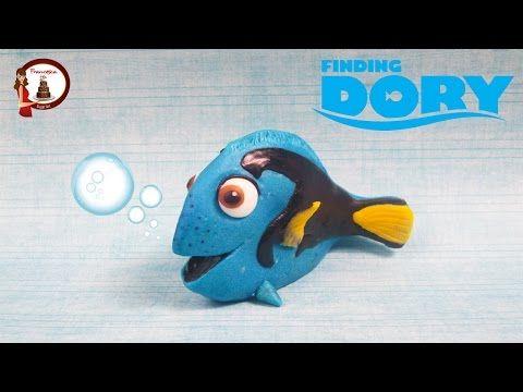 Finding Dory out of fondant- Alla ricerca di Dory in pasta di zucchero - YouTube