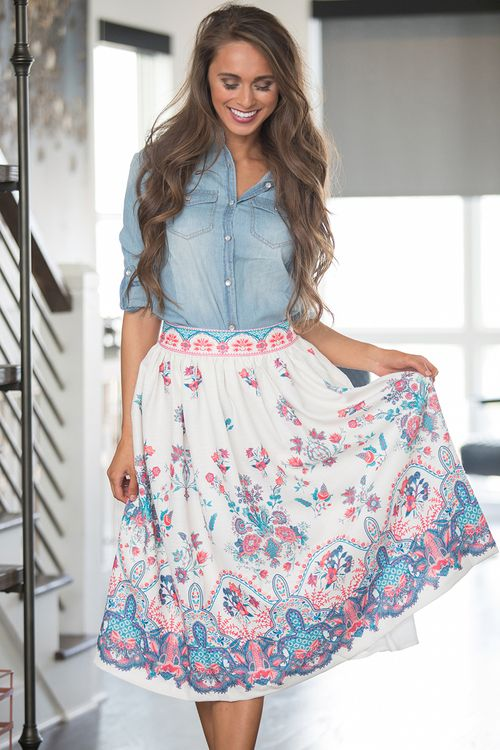 Free As A Bird Skirt - The Pink Lily