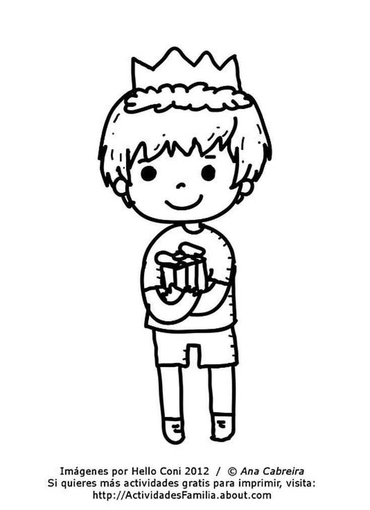Dibujos de cumpleaños para colorear (Descarga Gratis): Niño para ...