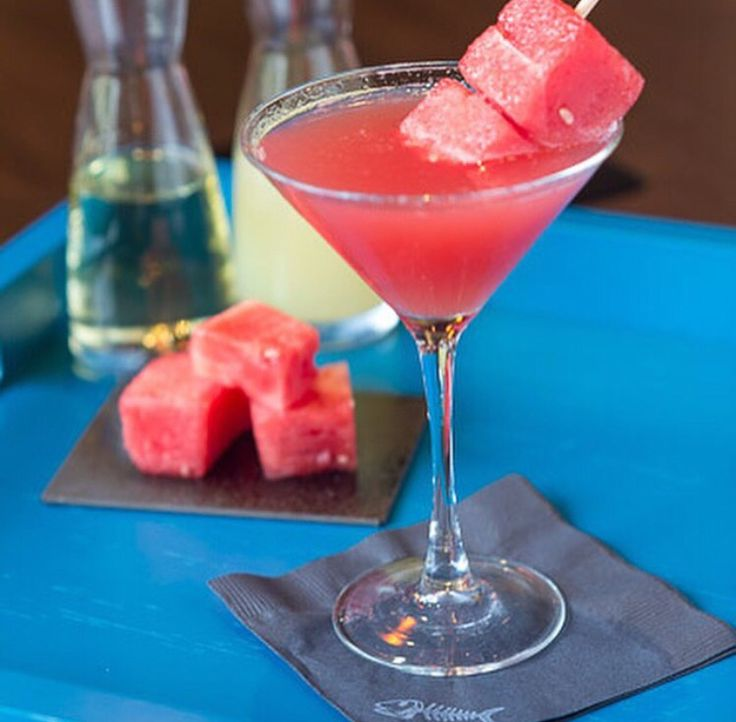 Bonefish Watermelon Martini - Muddle 4 watermelon cubes, 1/4 oz simple syrup & 1/2 oz lemon juice. Add 1.5 oz cucumber or plain vodka. Shake all ingredients with ice in a shaker & serve in a chilled glass. Garnish with a piece of frozen watermelon or fresh cucumber. CHEERS!
