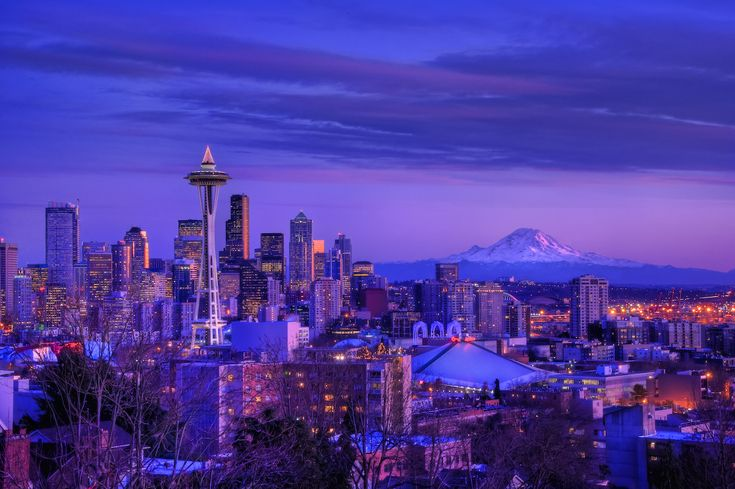 Winter in Seattle at dusk. I can't wait to move there with Matt.