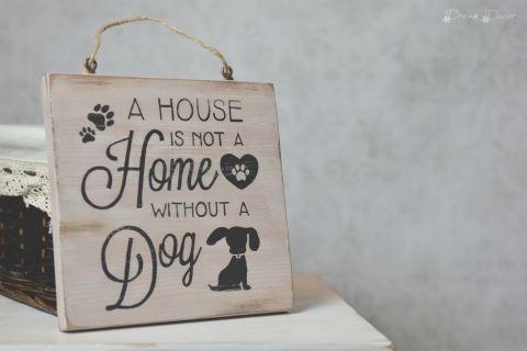 Fa táblakép kutya imádóknak, Dekoráció, Otthon, lakberendezés, Kép, Falikép, Meska     4200 Ft
