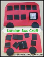 Craftulate: London Bus Craft (Themes: England, London, Travel, Transportation)