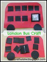 Craftulate: London Bus Craft (Themes: England, London, Travel, Transportation)