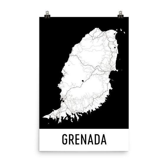 Die Besten Grenada Map Ideen Auf Pinterest Antigua - Road map of grenada island