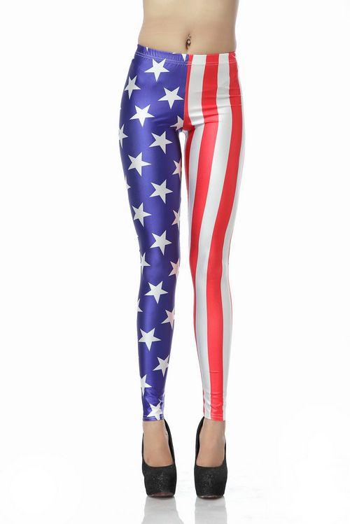 Polaina estampada bandera americana-Azul EUR18.92